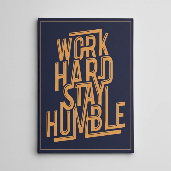 Work Hard Stay Humble canvas print