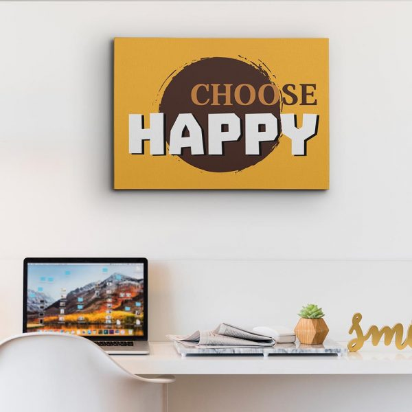 Choose Happy - Inspiration Canvas Print