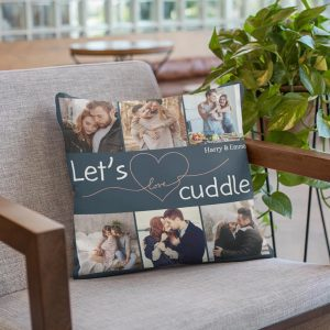 Let's Cuddle Custom Photo Pillow
