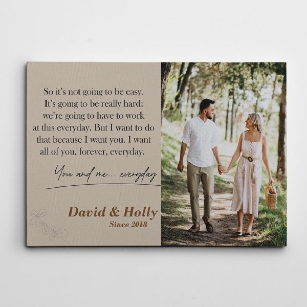 the notebook love quote personalized canvas print