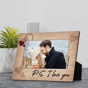 P/S I Love You Personalized Desktop Plaque With Photo