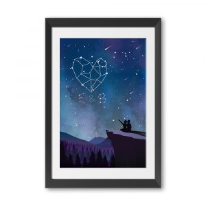 The Night Sky Custom Name Framed Print