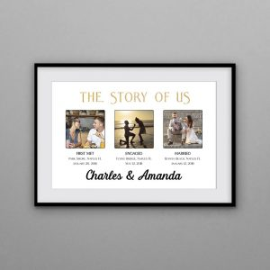 The Story Of Us Custom Photo Frame Print