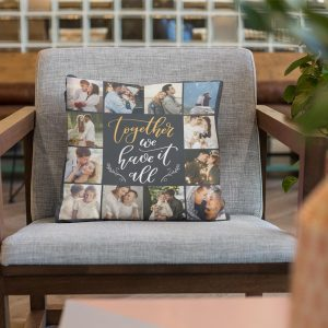 Together We Have It All Custom Photo Collage Pillow