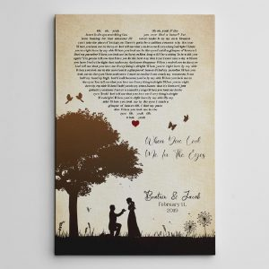 Couple Silhouette Song Lyric Canvas Print
