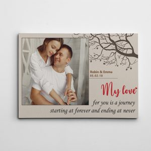 My Love For You Is A Journey custom canvas print