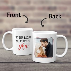 I Would Be Lost Without You Custom Photo Mug