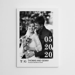 The Day We Decided On Forever Black And White Photo Canvas Print