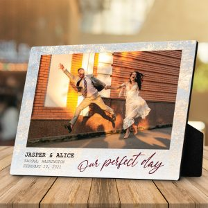 our perfect day custom plaque - wedding anniversary gift idea